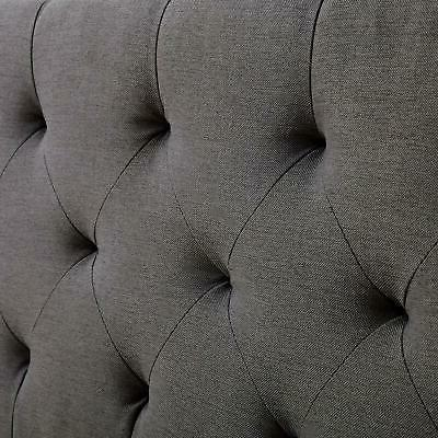 Queen Bed Frame Headboard Upholstered Tufted Headboard