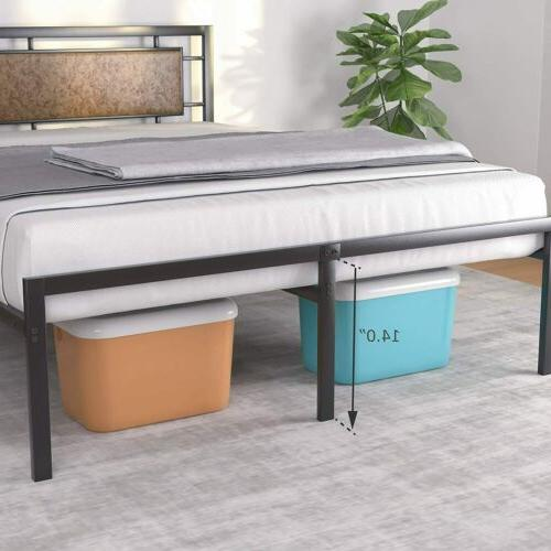 Queen Size Leather Upholstered Bed Frame Bedroom