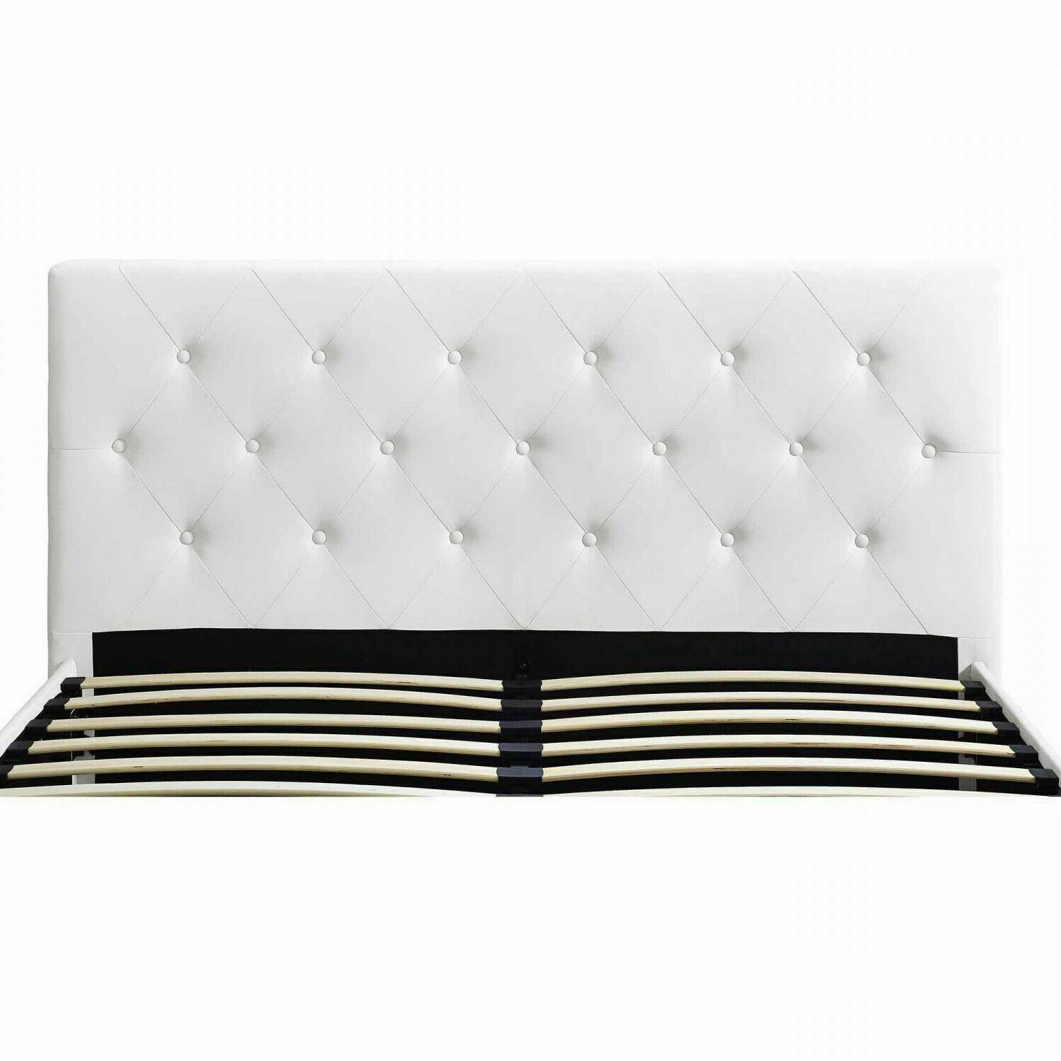 Queen Size Faux Leather Tufted