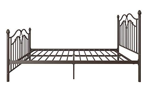 DHP Metal Bed, Classic Design, Slats, Bronze