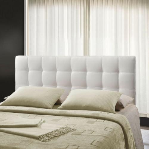 Tufted Square Full Size Headboard in