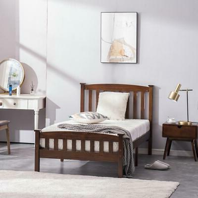 New Wood Bed Wooden Support w/ Walnut Color