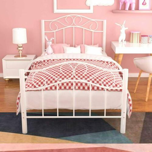 Twin XL Frame Footboard Bedroom White