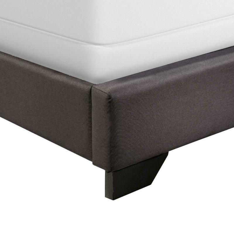 Upholstered Bed Size Headboard Charcoal