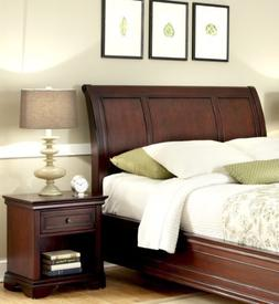 Home Styles Lafayette Sleigh Headboard and Night Stand in Es