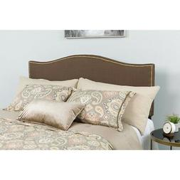 Lexington Upholstered Full Size Headboard with Decorative Na