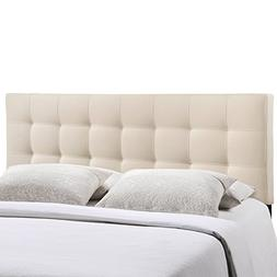 Lily Fabric Headboard by Modway Ivory Full
