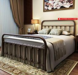 Urodecor Metal Bed Frame Full Size Headboard And Footboard W