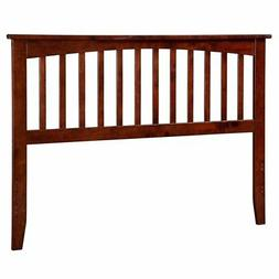 Atlantic Furniture Mission Slat Headboard in Antique Walnut-