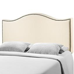 Modway Curl Queen Nailhead Upholstered Headboard, Multiple C