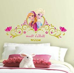 New Disney FROZEN SPRING Elsa Anna WALL DECALS PERSONALIZED