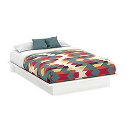South Shore Step One Queen Platform Bed with Mouldings and H