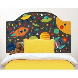 OUTER SPACE Twin HEADBOARD 1 MURAL wall sticker decal bedroo