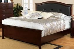Furniture of America Pruden Cal.King Panel Bed in Brown Cher