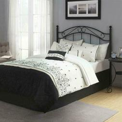 Queen Full Size Metal Classic Headboard Vintage Bed Frame Tr