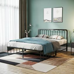 Queen Full Size Metal Platform Bed Frame Mattress Foundation