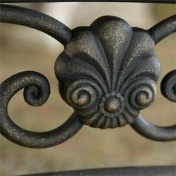 Bowery Hill Queen Metal Spindle Headboard in Brown