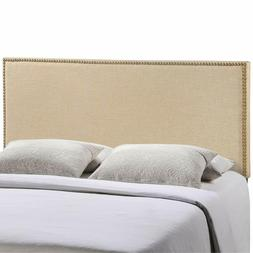 Modway Region Linen Fabric Upholstered Queen Headboard in Ca