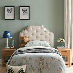 Silas Twin Studded Fabric Kid Headboard by Christopher