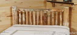 Small Spindle  LOG HEADBOARD    -USA Handcrafted  Rustic- FR