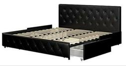 The DHP Dakota Upholstered Faux Leather Tufted Headboard
