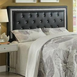 Coaster Andenne Tufted Full Queen Panel Headboard in Black