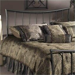 Hawthorne Collections King Metal Spindle Headboard in Pewter