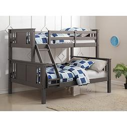 Twin/Full Princeton Bunkbed Slate Grey