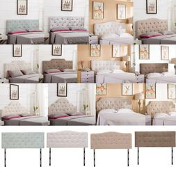 Upholstered King/Queen/Twin Size Headboard Button Tufted Adj